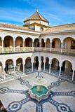 Patio Principal of La Casa De Pilatos, Seville In Spain. Stock Image