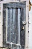 Patio prohibido de madera azul hecho a mano corto de los guardias de puerta imagen de archivo