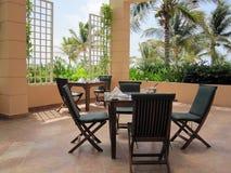 patio restauracja Obraz Royalty Free