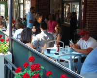 Patio Restaurant – Roanoke, Virginia, USA Stock Images