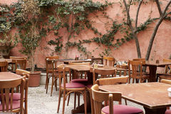 Patio of a restaurant on Mallorca Stock Image