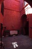 Patio rosso Fotografia Stock
