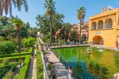 Gardens Royal Alcazar of Sevilla. Andalusia, Spain stock photos