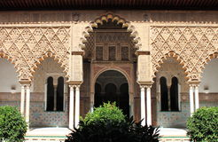 Patio in the Royal Alcazar of Sevilla Royalty Free Stock Images