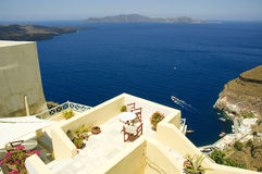 Patio on Santorini Stock Images