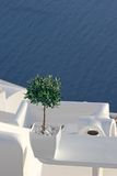Patio in Santorini, Greece Royalty Free Stock Photography