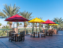 Patio seating, El Paseo Drive Stock Image