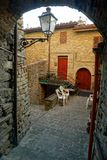 Patio. Serra San Quirico Stock Photography