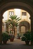 Patio in Sicily Stock Image
