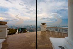 Patio Sirocco Restaurant Skybar Bangkok Skyline Royalty Free Stock Images