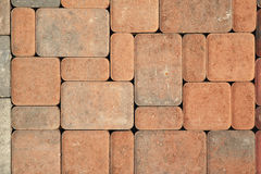 Patio stones pattern. Patio stones arranged in a pattern stock photo
