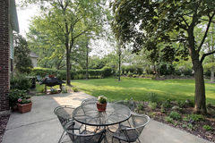 Patio in suburban home Stock Photo