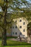 Patio sul campus universitario di Aarhus, Danimarca Fotografia Stock Libera da Diritti
