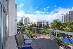 Patio sur le balcon Photo libre de droits