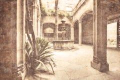 Patio típico en España Fotografía de archivo libre de regalías