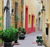 Patio típico en Malta Imagen de archivo libre de regalías