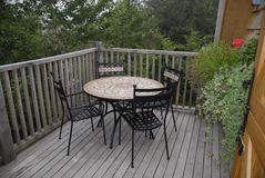 Patio Table and Chairs Royalty Free Stock Photos