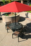 Patio Table Set. Close up of a patio table set Royalty Free Stock Photos