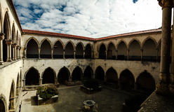 Patio of Templar church of the Convent of the Order of Christ in Tomar, Portugal Royalty Free Stock Photo