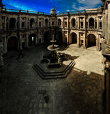 Patio of Templar church of the Convent of the Order of Christ in Tomar, Portugal Stock Photo