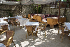 Patio terrace of konak country house Stock Photo