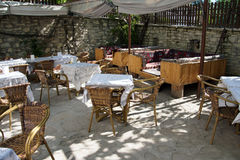 Patio terrace of konak country house Stock Image