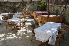 Patio terrace of konak country house Stock Photography