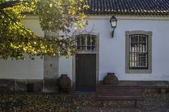 Patio tradizionale della casa Fotografie Stock