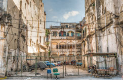 Patio trasero de la arquitectura de Cuba Imágenes de archivo libres de regalías