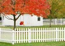 Patio trasero de la casa Foto de archivo libre de regalías