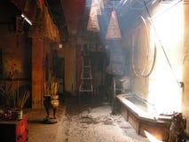 Patio trasero de Pagode budista en Vietnam Fotografía de archivo libre de regalías