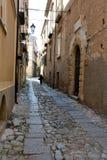 Patio trasero idílico en Tropea, Calabria fotografía de archivo