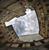 Patio trasero urbano Fotografía de archivo
