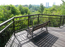 Patio, tree top boardwalk Royalty Free Stock Image