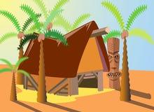 Patio tropical ilustración del vector