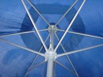 Patio Umbrella. Outdoor blue patio umbrella Stock Images