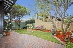 Patio und Garten stockfoto
