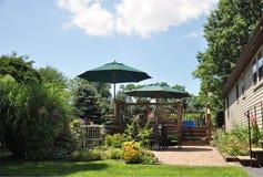 Patio und Garten Stockfotos