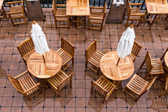 Patio View from Overhead in Rain Royalty Free Stock Photography