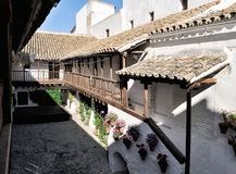 Patio von Posada Del Potro, Cordoba, Spanien Stockbilder