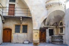 Patios de Traboules en Lyon, Francia Fotografía de archivo