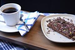 Patisserie бита mocca кофе и шоколада Стоковые Изображения RF