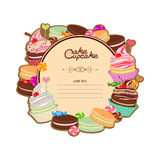 Patisserie background frame Stock Image