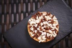 Patisserie - Chocolate tart overhead Royalty Free Stock Photo
