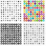 100 patisserie icons set vector variant. 100 patisserie icons set vector in 4 variant for any web design isolated on white Royalty Free Stock Images