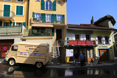 Patisserie truck in small town of Cully on Lake Geneva, Switzerland Stock Photos
