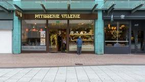 Patisserie Valerie op Koningin Street Cardiff stock afbeeldingen