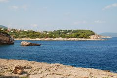 Patitiri coastline, Alonissos Royalty Free Stock Images