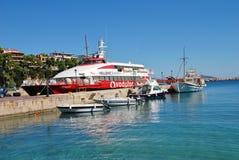 Patitiri Hafen, Alonissos Insel stockfoto