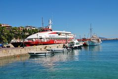 Patitiri harbour, Alonissos island Stock Photo